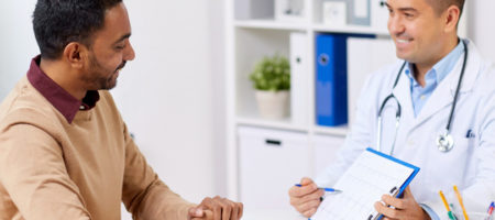 Men's health - Man meeting with his doctor